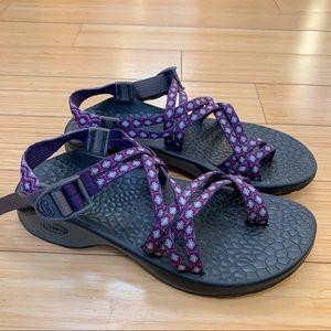 CHACO ZX/2 purple strap sandals, women's 8.